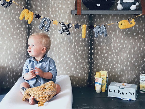 Naamslinger Kiddycolors Zwart Geel Met Walvis
