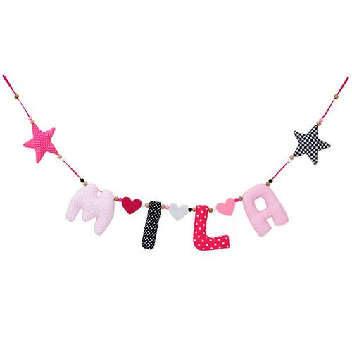 Kiddycolors Roze Zwart Naamslinger