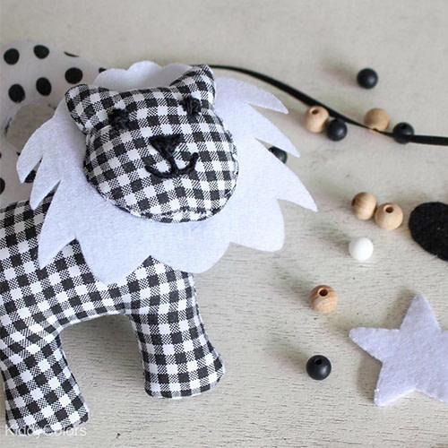 Kiddycolors Figuurtje Leeuw Zwart Wit