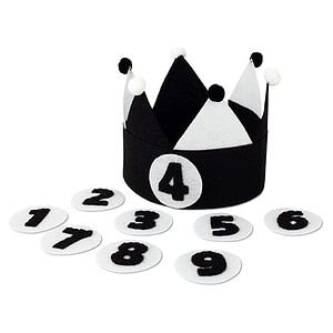 Kiddycolors Verjaardag Kroon Zwart Wit