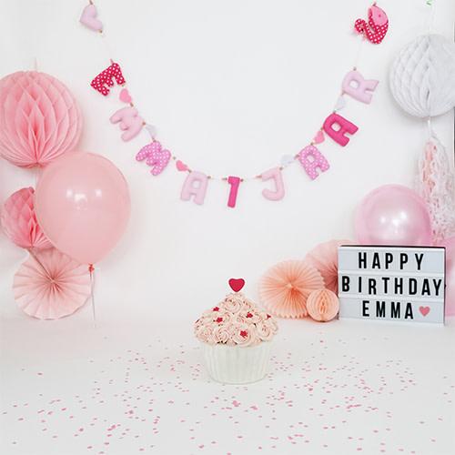 Kiddycolors Sfeer Foto Verjaardag Slinger Roze Tinten