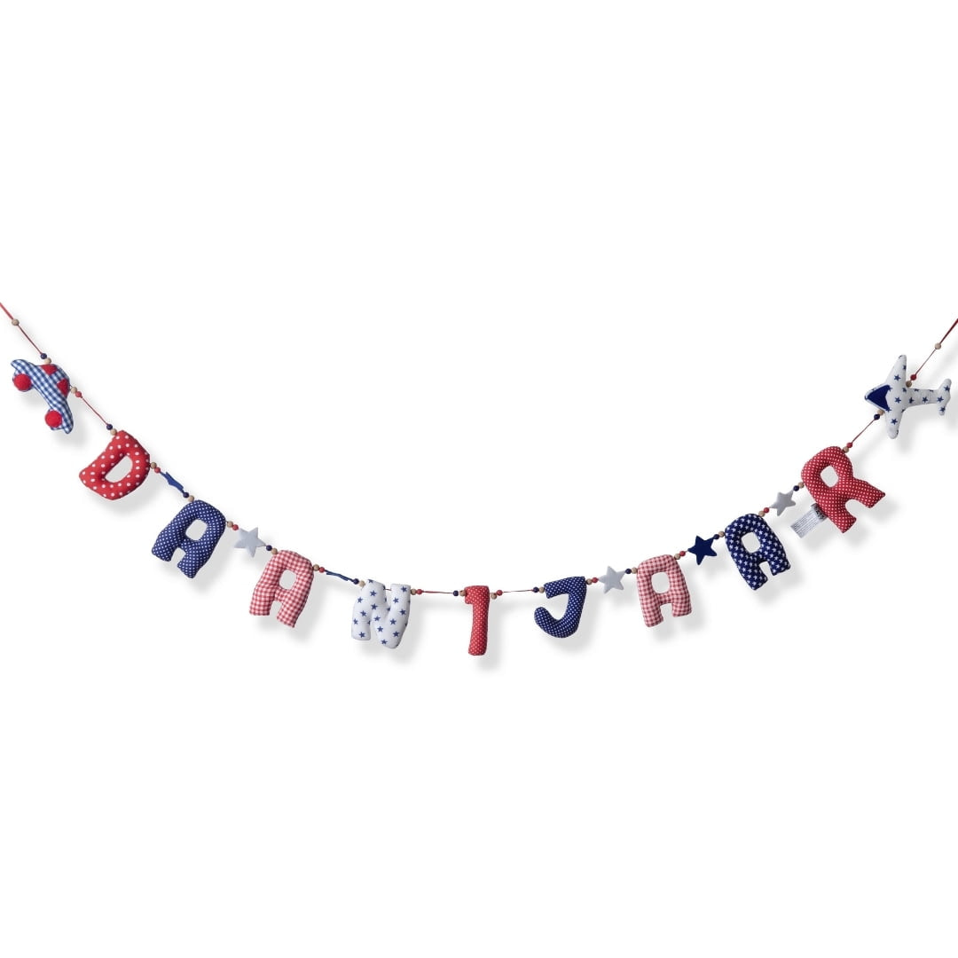 Horizontale Verjaardag Slinger Blauw Kiddycolors