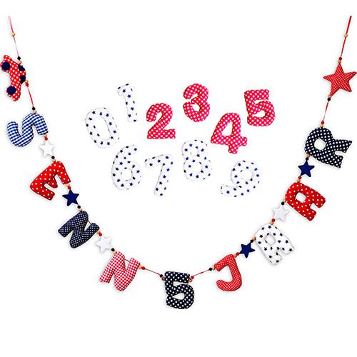 Kiddycolors Verjaardags Slinger Rood Wit Blauw