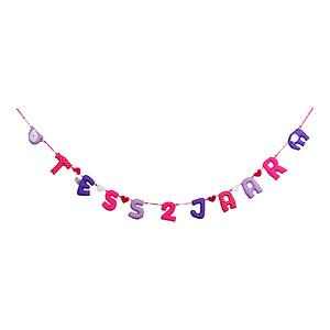 Verjaardag Slinger Kiddycolors Roze Paars 2 Jaar
