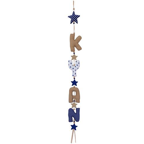 Kiddycolors Naamslinger Naturel Donkerblauw Wit Verticaal