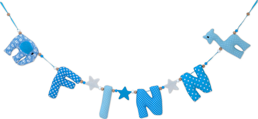 Naamslinger Finn Blauw Geboorte
