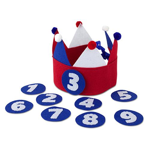 Kiddycolors Verjaardag Kroon Rood Wit Blauw