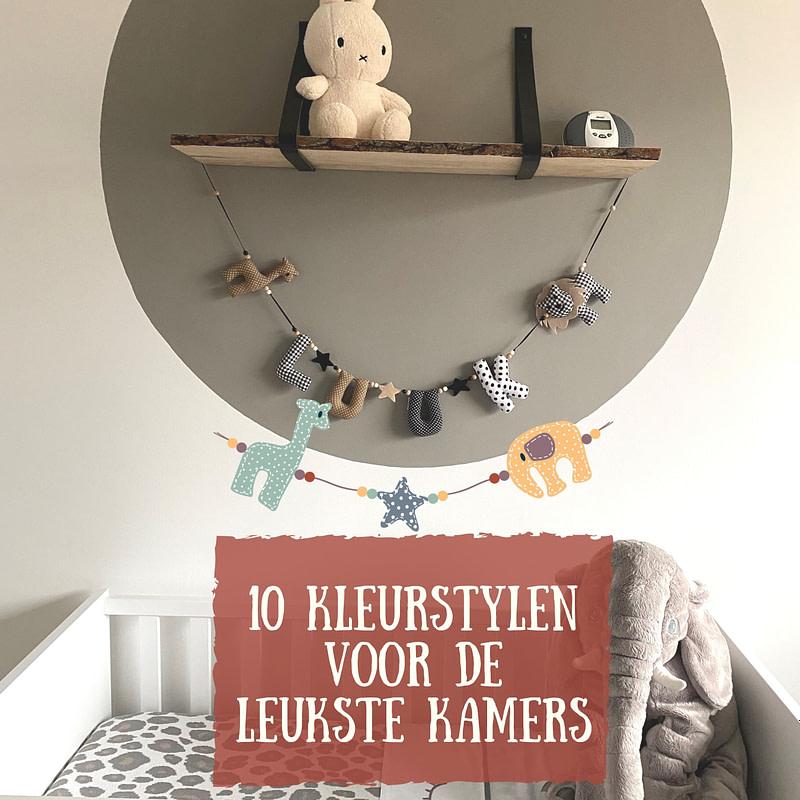 10 kleur stylen babykamer