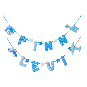 Kiddycolors Naamslingers Aqua En Lichtblauw