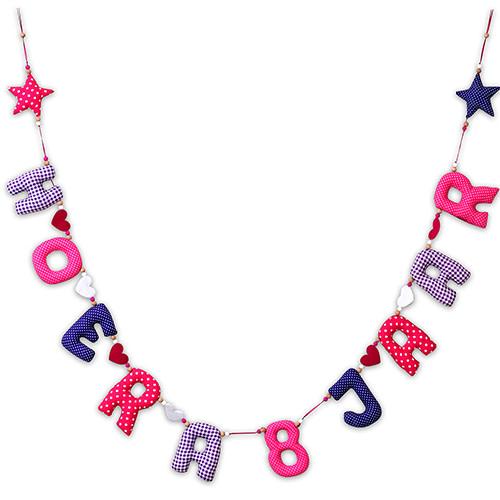 Kiddycolors Verjaardag Slinger Fuchsia Roze