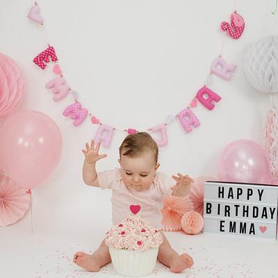Verjaardagsslinger Roze Verwisselbare Cijfers