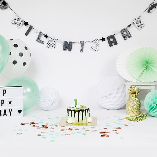 Kiddycolors Sfeerfoto Verjaardag Slinger Zwart Wit