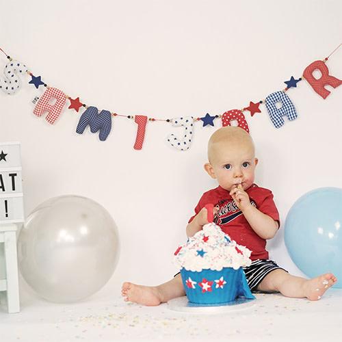 Kiddycolors Sfeer Foto Verjaardag Slinger Rood Wit Blauw